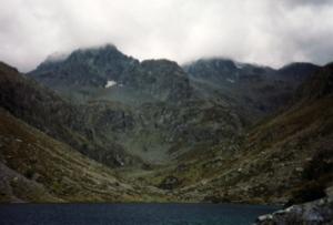 Lac d'Estom in Pyrénées Mts.
