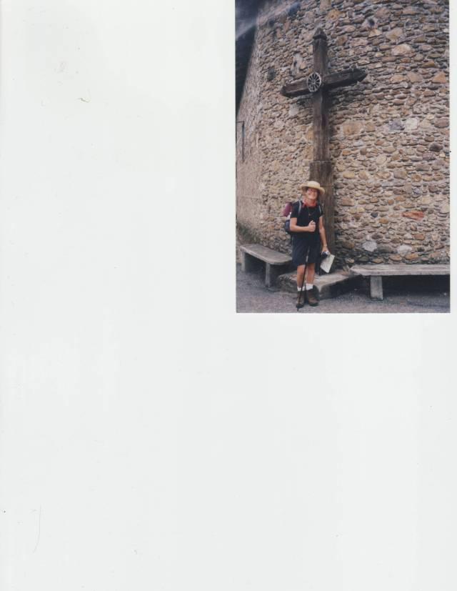 Pilgrimage cross near St.-Bertrand-de-Comminges. Photo by Yvette Maurette.