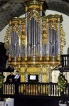 Organ built by Remy Mahler in the cathedral Saint-Etienne-de-Baïgorry, France.